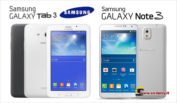 Galaxy Note 3 e Samsung Galaxy Tab 3 presto annunciati all'IFA di